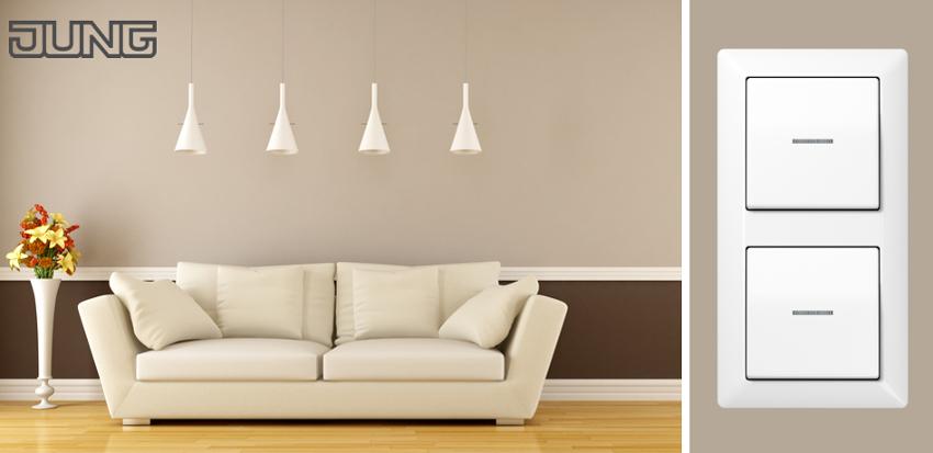 6 fach rahmen viko steckdose schalter taster dimmer ebay. Black Bedroom Furniture Sets. Home Design Ideas
