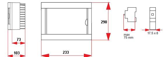 verteilerkasten sicherungskasten 16 module aufputz ebay. Black Bedroom Furniture Sets. Home Design Ideas