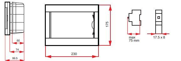 verteilerkasten sicherungskasten 8 module unterputz. Black Bedroom Furniture Sets. Home Design Ideas