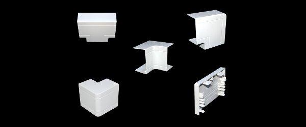 kabelkanal eckverbinder pvc wei verschiedene gr e. Black Bedroom Furniture Sets. Home Design Ideas