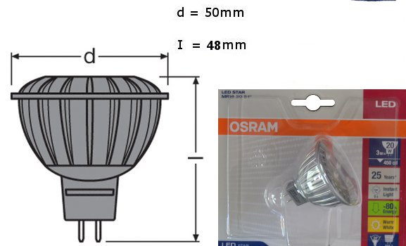 osram led superstar mr16 35 24 gu5 3 lampe dimmbar osram leuchte osram led ebay. Black Bedroom Furniture Sets. Home Design Ideas
