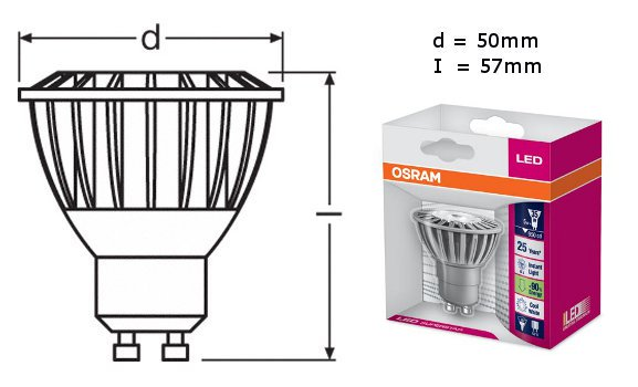 osram led star par16 35 25 gu10 lampe led leuchte osram neu 4w ebay. Black Bedroom Furniture Sets. Home Design Ideas