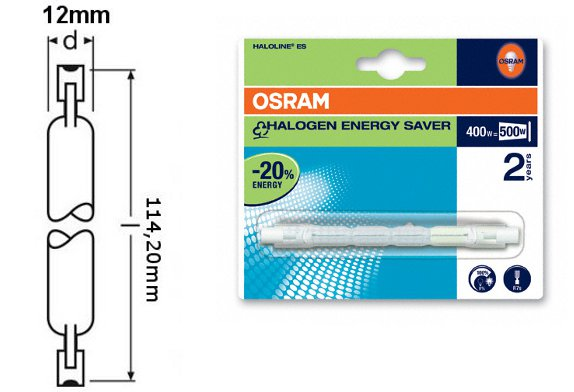 5x osram haloline eco halogenstab osram halopin leuchte 48w 400w neu ebay. Black Bedroom Furniture Sets. Home Design Ideas