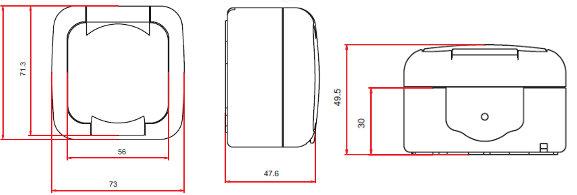 feuchtraum steckdosen ip54 steckdose schalter ip54. Black Bedroom Furniture Sets. Home Design Ideas