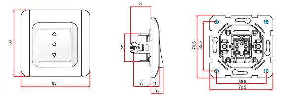 viko jalousieschalter rolladenschalter rohrmotor neu ebay. Black Bedroom Furniture Sets. Home Design Ideas