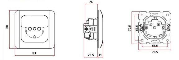 steckdose mit klappe schalter dimmer taster viko ebay. Black Bedroom Furniture Sets. Home Design Ideas