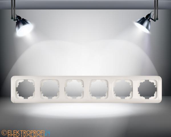 6 fach rahmen viko steckdose schalter taster dimmer. Black Bedroom Furniture Sets. Home Design Ideas